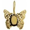 Filigree Earring setting 26x27mm Butterfly Antique Brass